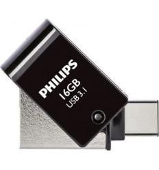 Philips 2 in 1 USB 3.1 -USB C 16GB Black FM16DC152B/00