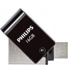 Philips 2 in 1 USB 2.0 - Micro USB 16GB Black FM16DA148B/00