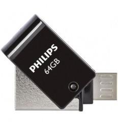 Philips 2 in 1 USB 2.0 - Micro USB 64GB Black FM64DA148B/00
