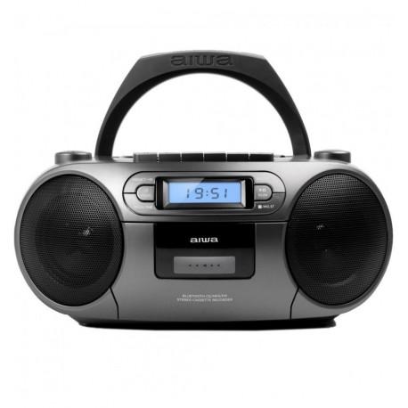 Aiwa BBTC - 550MG Γκρί Φορητό Ραδιοκασετόφωνο